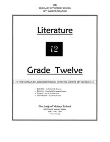 Lesson Plans - Literature IV