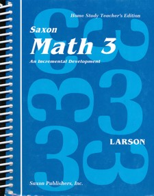 Saxon 3 Teacher Manual