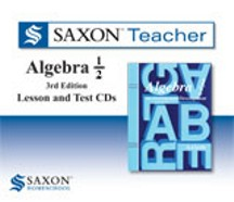 Saxon Teacher Math Algebra 1/2 Lesson and Test CDs