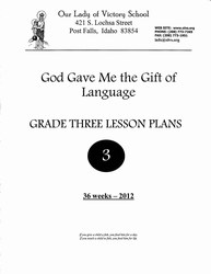 Lesson Plans - Grade 03 Gift of Language Grammar
