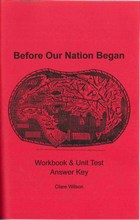 Before Our Nation Began (Workbook Answer Key)