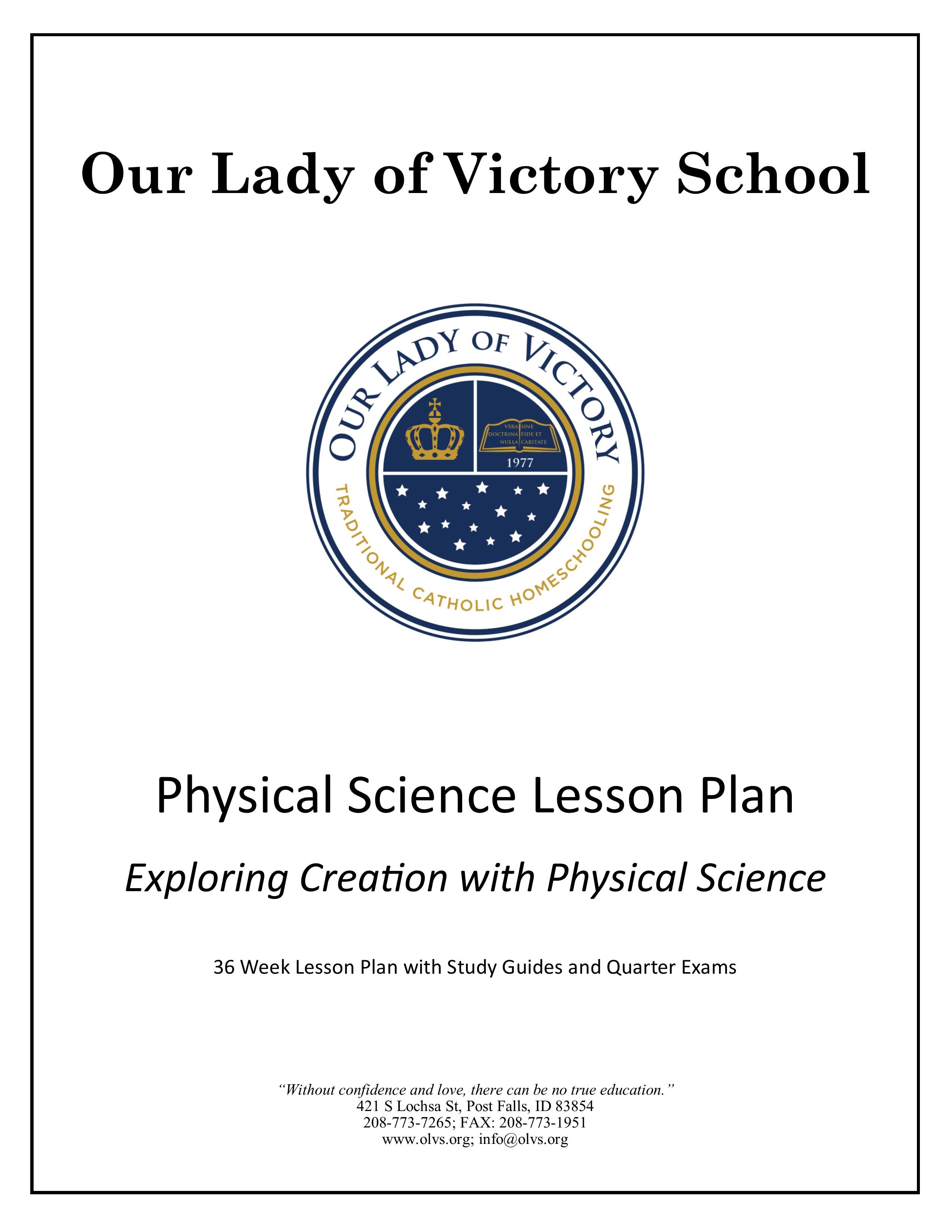 Lesson Plans – Grade 09 Physical Science